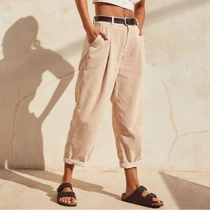 BDG pleated corduroy cocoon pants